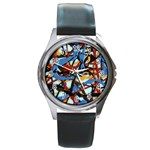 gloss-paint Round Metal Watch