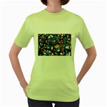 gloss-paint Women s Green T-Shirt