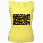 gloss-paint Women s Yellow Tank Top