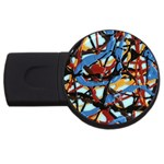 gloss-paint USB Flash Drive Round (1 GB)
