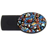 gloss-paint USB Flash Drive Oval (1 GB)