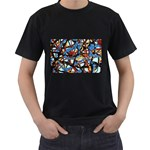 gloss-paint Black T-Shirt (Two Sides)