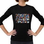 gloss-paint Women s Long Sleeve Dark T-Shirt