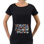 gloss-paint Maternity Black T-Shirt