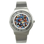 gloss-paint Stainless Steel Watch