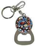 gloss-paint Bottle Opener Key Chain