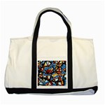 gloss-paint Two Tone Tote Bag
