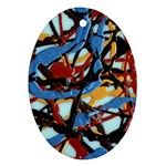 gloss-paint Oval Ornament (Two Sides)