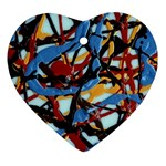 gloss-paint Heart Ornament (Two Sides)