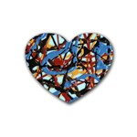 gloss-paint Heart Coaster (4 pack)