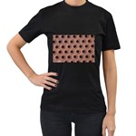 bee hives Women s Black T-Shirt (Two Sides)