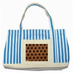 bee hives Striped Blue Tote Bag
