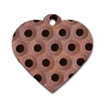 bee hives Dog Tag Heart (Two Sides)