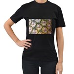 pineapple Women s Black T-Shirt (Two Sides)