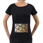 pineapple Maternity Black T-Shirt