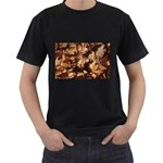 leaves Black T-Shirt