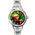 colours-h6w9 Round Italian Charm Watch