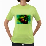 colours-h6w9 Women s Green T-Shirt