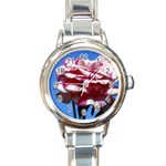 flower-bv5wa Round Italian Charm Watch