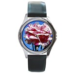 flower-bv5wa Round Metal Watch