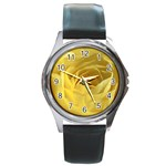 flower-07 Round Metal Watch
