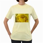flower-07 Women s Yellow T-Shirt