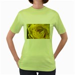 flower-07 Women s Green T-Shirt