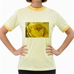 flower-07 Women s Fitted Ringer T-Shirt