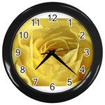 flower-07 Wall Clock (Black)