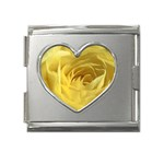 flower-07 Mega Link Heart Italian Charm (18mm)