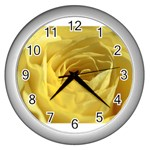 flower-07 Wall Clock (Silver)
