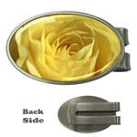 flower-07 Money Clip (Oval)