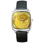 flower-07 Square Metal Watch