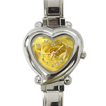 flower-07 Heart Italian Charm Watch