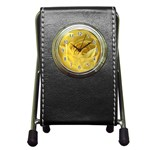 flower-07 Pen Holder Desk Clock