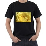 flower-07 Black T-Shirt (Two Sides)