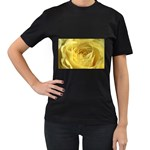 flower-07 Women s Black T-Shirt (Two Sides)