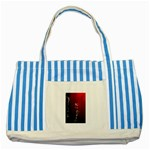 watermark2 Striped Blue Tote Bag