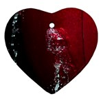 watermark2 Heart Ornament (Two Sides)