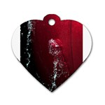 watermark2 Dog Tag Heart (One Side)