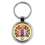 Gemini Starsign Zodiac Keyring - Key Chain (Round)