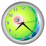 RELOJ VERDE - Wall Clock (Silver)