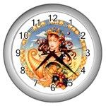 Virgo Zodiac Wallclock - Wall Clock (Silver)