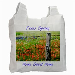 Texas Spring By Paula Fulford   Recycle Bag (two Side)   B0eqgg1zi95y   Www Artscow Com Front