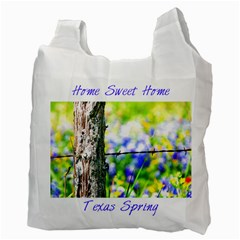 Texas Spring By Paula Fulford   Recycle Bag (two Side)   B0eqgg1zi95y   Www Artscow Com Back