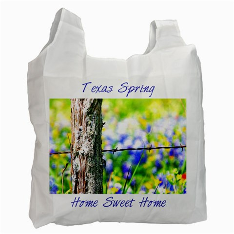 Tx Spring *blue By Paula Fulford   Recycle Bag (one Side)   Exlyjzhvyxv9   Www Artscow Com Front