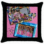 cojin tiff - Throw Pillow Case (Black)