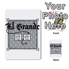 El Grande Cartes Actions En Francais By Plastic77   Multi Purpose Cards (rectangle)   Flvmm9alswjy   Www Artscow Com Back 13