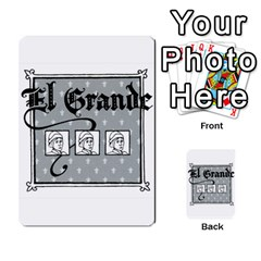 El Grande Cartes Actions En Francais By Plastic77   Multi Purpose Cards (rectangle)   Flvmm9alswjy   Www Artscow Com Back 25
