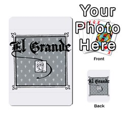 El Grande Cartes Actions En Francais By Plastic77   Multi Purpose Cards (rectangle)   Flvmm9alswjy   Www Artscow Com Back 3